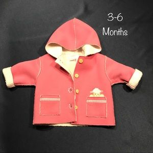 koala baby faux suede & fleece jacket 3-6 months